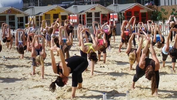 Yoga at Camden Beach