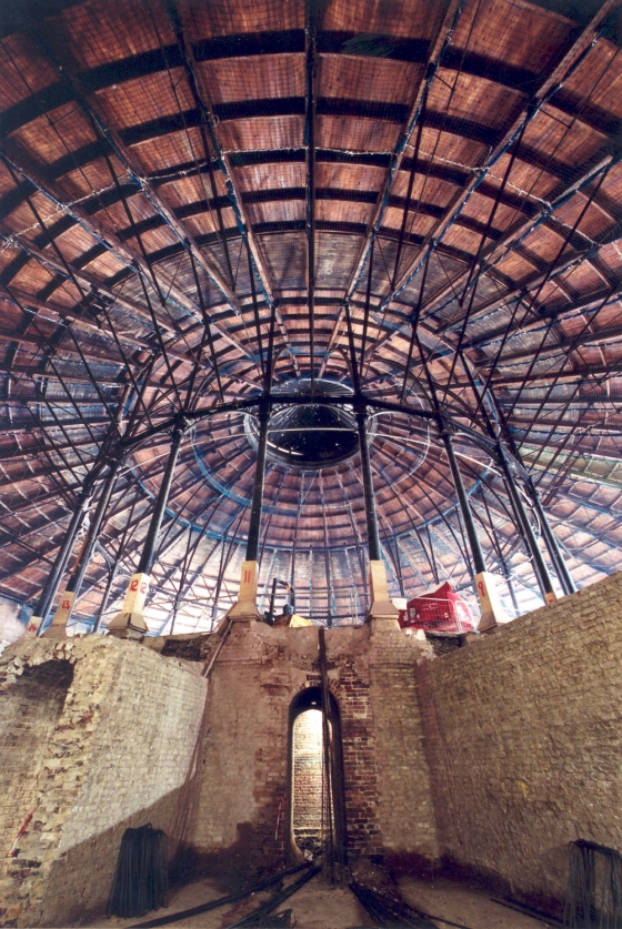 Roundhouse view from undercroft - 1 Aug 2004