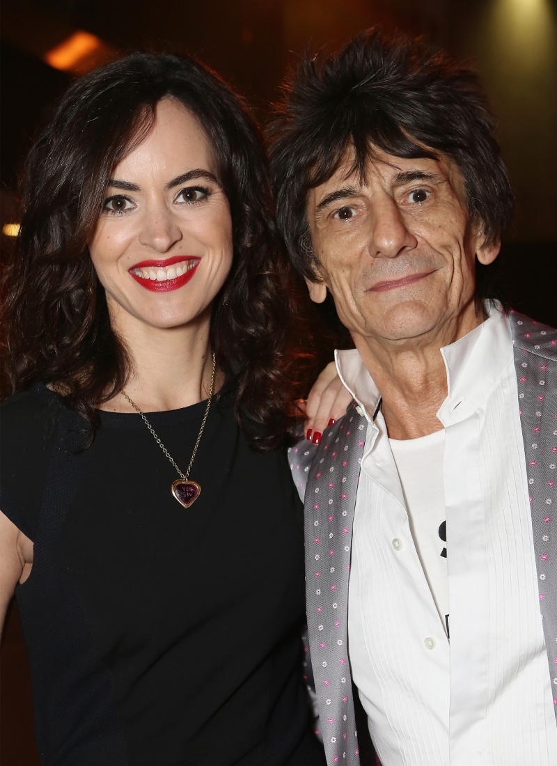 Sally and Ronnie Wood
